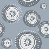 Μπλε και άσπρο snowflakes σχέδιο Στοκ Φωτογραφία
