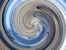 Μπλε και γκρίζα Twirls Στοκ Φωτογραφίες