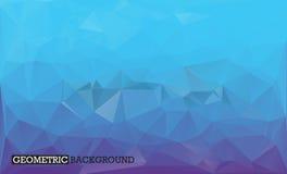 Μπλε και ιώδες χαμηλό πολυ ύφος υποβάθρου Στοκ Εικόνες