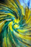Μπλε και κίτρινος στρόβιλος Στοκ Φωτογραφία