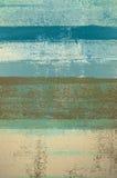 Μπλε και καφετιά αφηρημένη ζωγραφική τέχνης Στοκ Φωτογραφίες