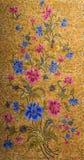 Μπλε και κόκκινο σχέδιο λουλουδιών Στοκ Εικόνες