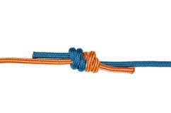 Μπλε και πορτοκαλιού σχοινί κόμβων αμπέλων, Στοκ Εικόνες