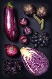 Μπλε και πορφυρά φρούτα και λαχανικά Στοκ εικόνες με δικαίωμα ελεύθερης χρήσης