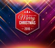 Μπλε και πορφυρή κάρτα Χριστουγέννων abstract background striped Στοκ Εικόνες
