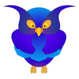 Μπλε και πορφυρή κουκουβάγια διασκέδασης απεικόνιση αποθεμάτων