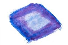 Μπλε και πορφυρός αφηρημένος λεκές watercolor Στοκ φωτογραφίες με δικαίωμα ελεύθερης χρήσης