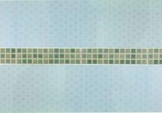 Μπλε και πράσινα κεραμίδια Στοκ Εικόνα