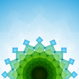 Μπλε και πράσινα συνδυασμένα διαφανή ορθογώνια ελεύθερη απεικόνιση δικαιώματος