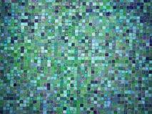 Μπλε και πράσινα χρωματισμένα κεραμίδια μωσαϊκών κλίσης Στοκ φωτογραφίες με δικαίωμα ελεύθερης χρήσης
