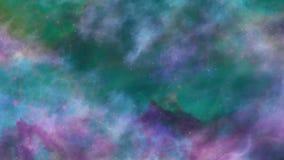 Μπλε και πράσινο διαστημικό υπόβαθρο νεφελώματος ελεύθερη απεικόνιση δικαιώματος