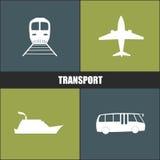 Μπλε και πράσινο υπόβαθρο εικονιδίων μεταφορών Στοκ φωτογραφία με δικαίωμα ελεύθερης χρήσης