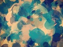 Μπλε και πράσινο υπόβαθρο κτυπημάτων βουρτσών Αμερικανός διακοσμεί διανυσματική έκδοση συμβόλων σχεδίου την πατριωτική καθορισμέν Στοκ εικόνα με δικαίωμα ελεύθερης χρήσης