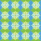 Μπλε και πράσινο υπόβαθρο σχεδίων τετραγώνων Στοκ Φωτογραφίες