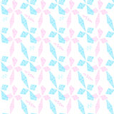Μπλε και ρόδινα rhombs και τρέκλισμα Στοκ εικόνα με δικαίωμα ελεύθερης χρήσης