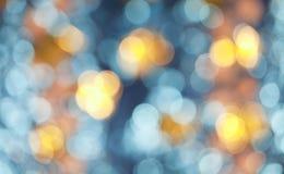 Μπλε και χρυσό υπόβαθρο Bokeh Στοκ Φωτογραφία