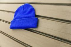 Μπλε καπέλο hipster στοκ εικόνα με δικαίωμα ελεύθερης χρήσης