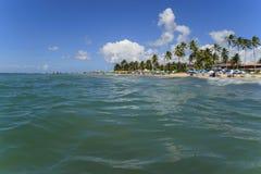 Μπλε καραϊβικό τοπίο ωκεανών και παραλιών στοκ εικόνα