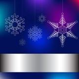 Μπλε καρτών Χριστουγέννων Στοκ Εικόνες