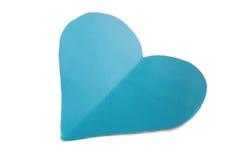 Μπλε καρδιά εγγράφου Στοκ Εικόνα