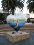 Μπλε καρδιά στο Σαν Φρανσίσκο Στοκ εικόνα με δικαίωμα ελεύθερης χρήσης