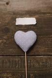Μπλε καρδιά του υφάσματος Στοκ φωτογραφία με δικαίωμα ελεύθερης χρήσης