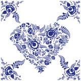 Μπλε καρδιά Στοκ εικόνα με δικαίωμα ελεύθερης χρήσης