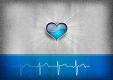 Μπλε καρδιά Στοκ φωτογραφίες με δικαίωμα ελεύθερης χρήσης