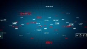 Μπλε καταδίωξη ποσοστών και τιμών ελεύθερη απεικόνιση δικαιώματος