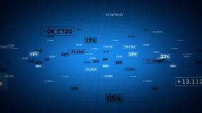 Μπλε καταδίωξη ποσοστών και τιμών διανυσματική απεικόνιση