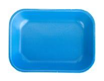 Μπλε κενός δίσκος τροφίμων Στοκ φωτογραφία με δικαίωμα ελεύθερης χρήσης