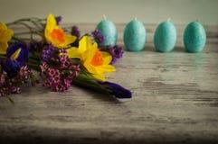 Μπλε κεριά της Νίκαιας υπό μορφή αυγών Πάσχας Στοκ εικόνες με δικαίωμα ελεύθερης χρήσης