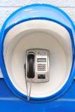 Μπλε κερματοδέκτης στον τοίχο Στοκ φωτογραφία με δικαίωμα ελεύθερης χρήσης