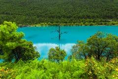 Μπλε κοιλάδα ή lanyuegu φεγγαριών Στοκ εικόνες με δικαίωμα ελεύθερης χρήσης