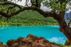 Μπλε κοιλάδα ή lanyuegu φεγγαριών Στοκ φωτογραφία με δικαίωμα ελεύθερης χρήσης