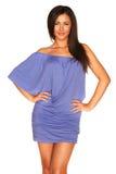 μπλε κορίτσι φορεμάτων Στοκ Εικόνες