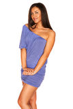 μπλε κορίτσι φορεμάτων Στοκ Εικόνα
