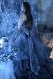 μπλε κορίτσι φορεμάτων Στοκ φωτογραφία με δικαίωμα ελεύθερης χρήσης