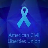 Μπλε κορδέλλα Αμερικανικής Ενωσης για τις Ελευθερίες των Πολιτών απεικόνιση αποθεμάτων