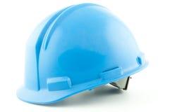 Μπλε κράνος ασφάλειας Στοκ φωτογραφία με δικαίωμα ελεύθερης χρήσης