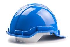 Μπλε κράνος κατασκευής Στοκ Φωτογραφίες