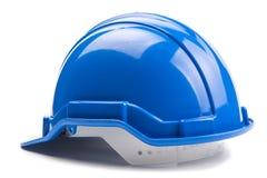 Μπλε κράνος κατασκευής Στοκ Εικόνα