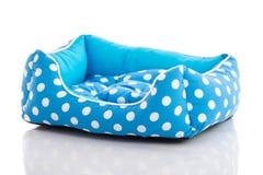 Μπλε κρεβάτι κατοικίδιων ζώων Στοκ Εικόνες
