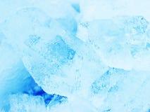 Μπλε κρύσταλλα πάγου Στοκ εικόνα με δικαίωμα ελεύθερης χρήσης
