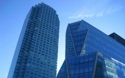 Μπλε κτήρια βιομηχανικά Στοκ Εικόνες