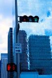 Μπλε κτήρια καθρεφτών του Χιούστον Τέξας στο κέντρο της πόλης Στοκ εικόνα με δικαίωμα ελεύθερης χρήσης
