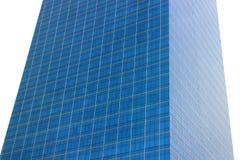 Μπλε κτήριο στον άσπρο ουρανό Στοκ Φωτογραφίες