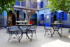 Μπλε κτήριο του Μαρακές Μαρόκο Στοκ Εικόνες