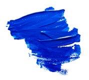 Μπλε κτυπήματα της βούρτσας χρωμάτων που απομονώνεται Στοκ Εικόνα