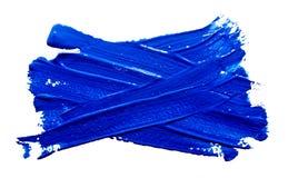 Μπλε κτυπήματα της βούρτσας χρωμάτων που απομονώνεται Στοκ φωτογραφία με δικαίωμα ελεύθερης χρήσης